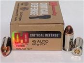 HORNADY Ammunition CRITICAL DEFENSE 45 AUTO